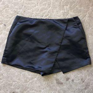 Forever 21 Faux Leather Skort Asymmetrical Hem